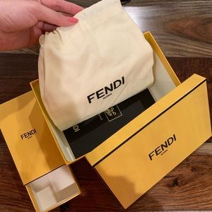 Two small Fendi accessories boxes with dustbag